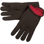 Red Fleece Lined Jersey Glove