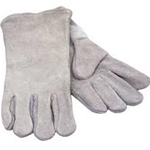 Gray Cowhide Welder 14""