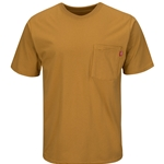 Men's Short Sleeve Solid Basic Tee Birch Brown