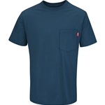 Men's Short Sleeve Solid Basic Tee Enamel Blue