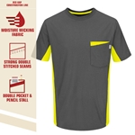 M Color Block Safety Gray Tee