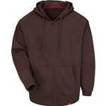 Men's Full Zip Hoodie Bark Brown
