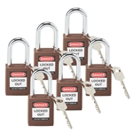 Brown Safety Padlocks 6/ Box