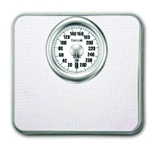 Bathroom Scale 0-300 lb White