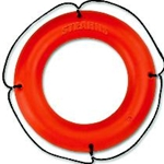 "30"" Orange Ring Buoy w/Reflective Tape"