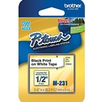 "Brother M231 Tape 1/2"" Black/W"
