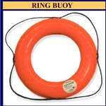 "24"" Orange Ring Buoy w/Reflective Tape"