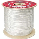 "3 Strand Nylon White 3/8"" Rope"