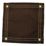 12' x 10' Brown Canvas Protective Tarps