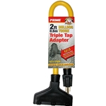 2' 12/3 Stow Yellow Triple-Tap Adapter