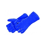 Blue Leather Welder Glove w/Reinforced Thumb & Palm X