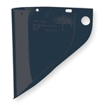 "Fibre-Metal High Performance 9 3/4"" x 19"" x .06"" Green Shade 3 Injection Molded Propionate Extended View Faceshield For Models F400 & F500 Mounting Crown"