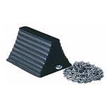 Heavy Duty Wheel Chock with 12' Chain
