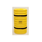"12"" Column Protector, 42"" High, Yellow with Black Straps"