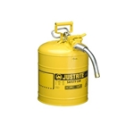 "5-Gal. AccuFlow™ steel safety can w/ 1"" hose Yellow"