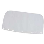 Flat acetate visor Clear